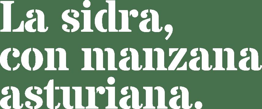 La sidra, con manzana asturiana